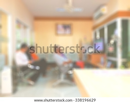 blur blurred patients at dental clinic section in hospital waiting for doctor and operation - stock photo