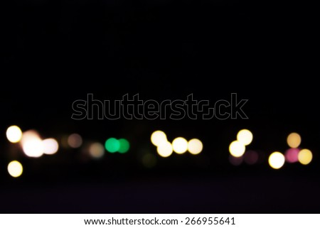 Blur bokeh lights on an island in Thailand style vintage. - stock photo