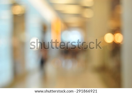 blur busy city pedestrian people crowd on shopping mall - stock photo