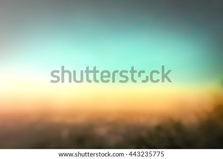 Blur City Cloud Color Hotel Blue Red Brown Orange Heaven Plan Urban View Vibrant Sea Riverside Sunny Tourism Dawn Sunlight Valley Peace Bright Horizon River Yesterday Mountain Island Bridge Blurry - stock photo