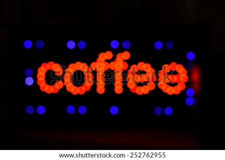 blur coffee light letters - stock photo