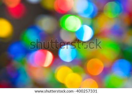 Blur. Colored confetti out of focus.