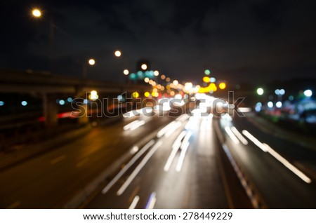 blur colorful lighhts traffic abstract background
