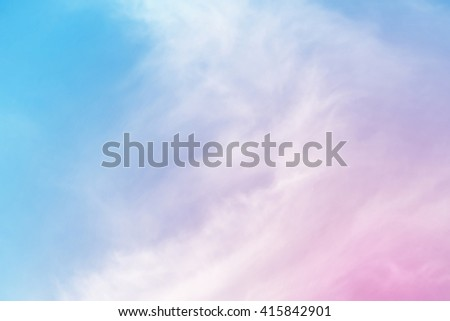 Blur colour sweet dreamy clouds background  - stock photo