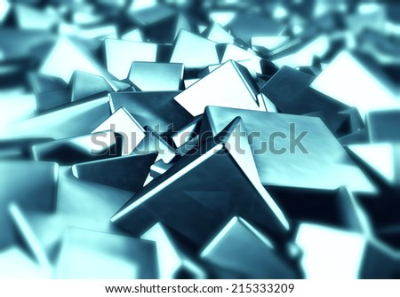 Blur cubes abstract background - stock photo