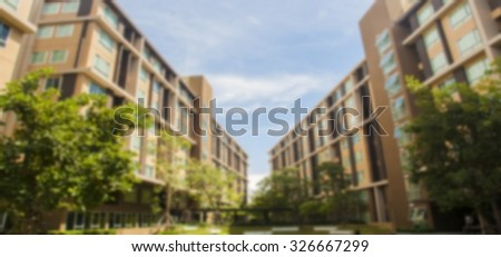 blur dormitory building perspective  background - stock photo