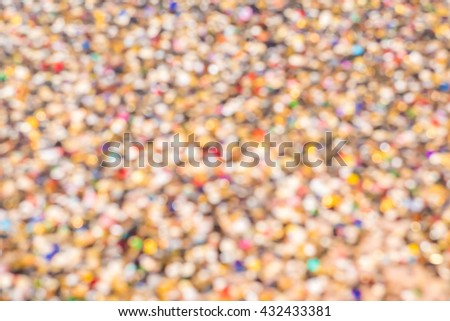 Blur Gemstone Treasure and Gold Color Tone Style for Background  / Rich and Wealth Wallpaper / Millionaire Wallpaper - stock photo