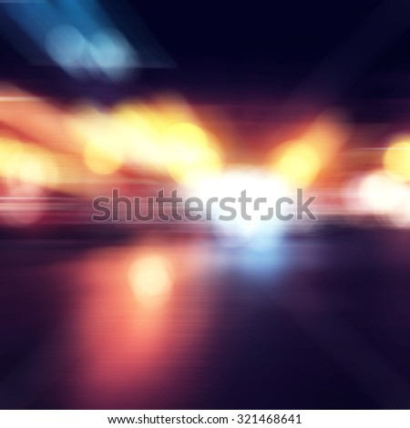 blur glitter city lights background. dark gold and black. defocused - stock photo