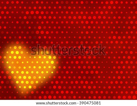 blur heart shape with light dots background - stock photo