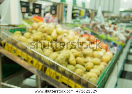 Blur image at supermarket and bokeh background