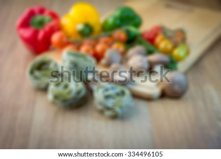 blur image background of pasta cooking ingredient - stock photo