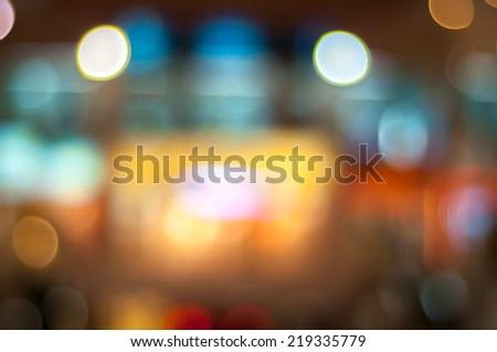 Blur image inside the shopping mall at Kuta, Bali - stock photo