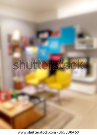 Blur image of living room