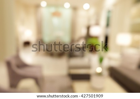 blur image of living room inte - stock photo