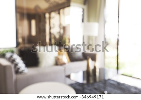 blur image of modern living room interior - stock photo