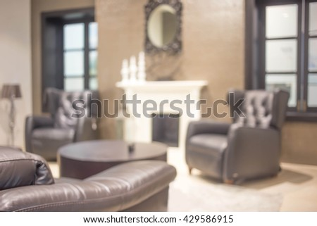 blur image of modern living room interior.  living room.