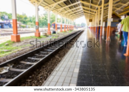 Blur image of old train station.
