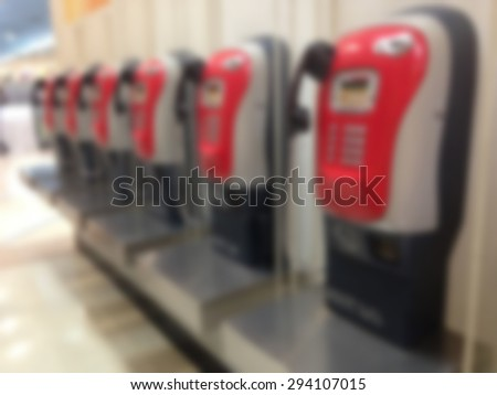 blur image of pay phone - stock photo