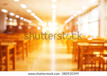 blur image of the library and sun light - stock photo