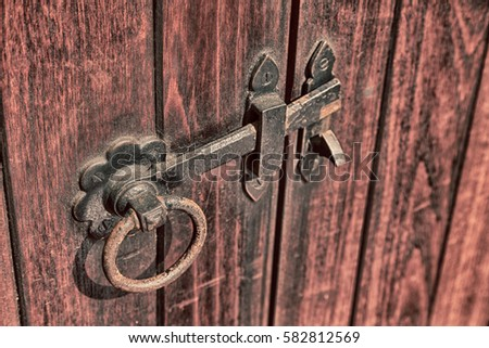blur in south africa antique door entrance and decorative handle for background - Antique Door Hardware