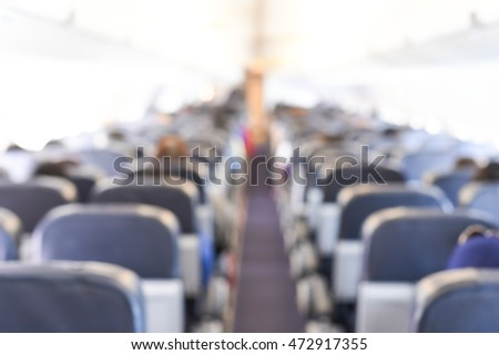 blur inside airplane - blurred background