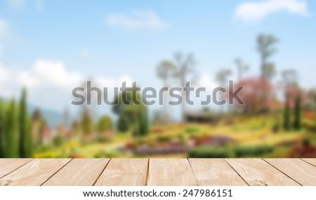 Blur khun Wang Park is a popular tourist destinations in Thailand. - stock photo