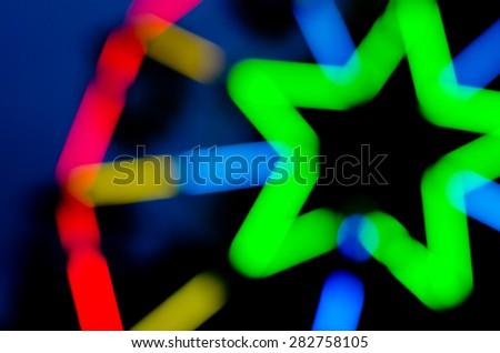 Blur light backgrounds - stock photo
