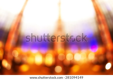 blur light colorful dome background - stock photo