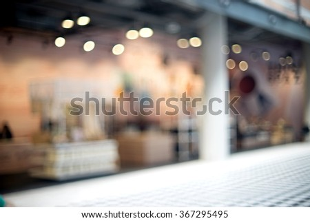 blur modern retail shop in shopping mall  - stock photo