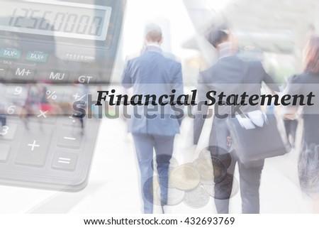 blur motion professional businessmen, financial statement, business financial management concept - stock photo