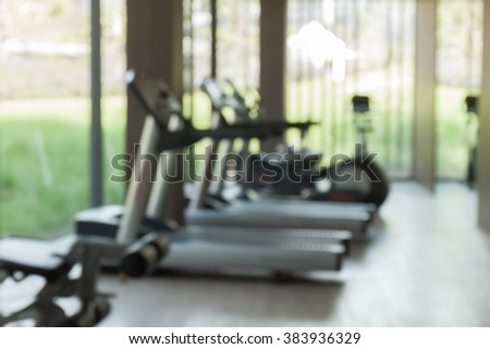 blur of fitness center background