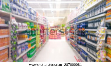 Blur of shopping malls that offer thousands of products.