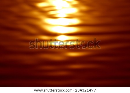 Blur of  water reflection - stock photo