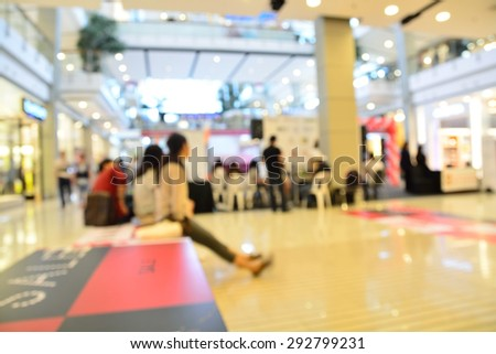 Blur or Defocus Background of People shopping in Department Store or Shopping Mall - stock photo