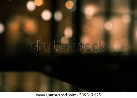 Blur or Defocus image of Coffee Shop or Cafeteria for use as Background, vintage effect - stock photo