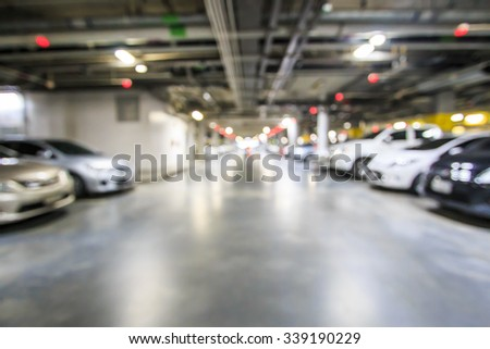 Blur parking lot  - stock photo