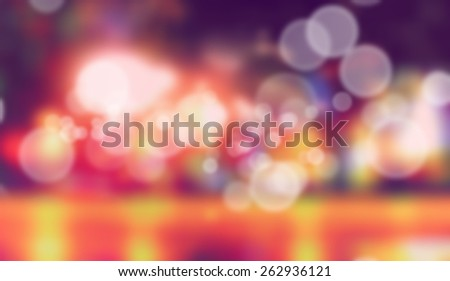 Blur pictures with bokeh effect - stock photo