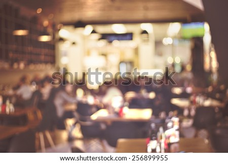 Blur restaurant - vintage effect style picture - stock photo
