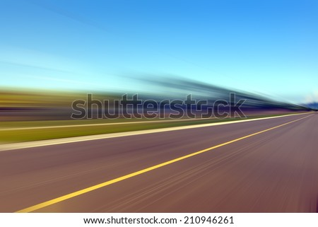 Blur road - stock photo