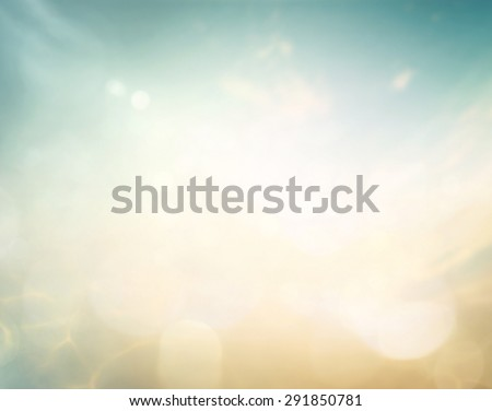 Blur Sea Frame Power Ocean Beach Blue Filter Blank Spring Time Earth Air Sun Idea Wave Clear Soft Light Bokeh Flare Sandy Peace Relax Sunny Belief Cloudy Heaven Glow Begin Aqua Medicine River concept - stock photo