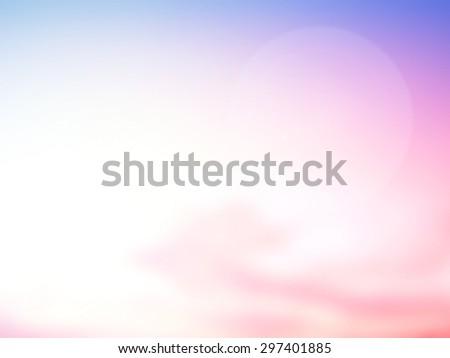 Blur Sea Frame Power Ocean Beach Texture Blue Pink Violet Magenta Purple White Blank Earth Sun Idea Wave Clear Soft Light Bokeh Flare Sand Peace Relax Sunny Bright Cloudy Heaven Glow Nature Seascape - stock photo