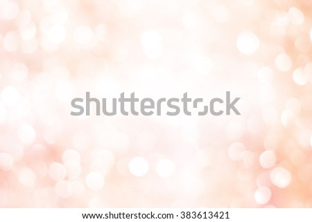 Blur shining brighten wallpaper with circle lantern:abstract blurred background in warm light colour toned.blurry bulbs ball motion of golden/yellow/pink color backdrop.blurry wedding ceremony concept - stock photo
