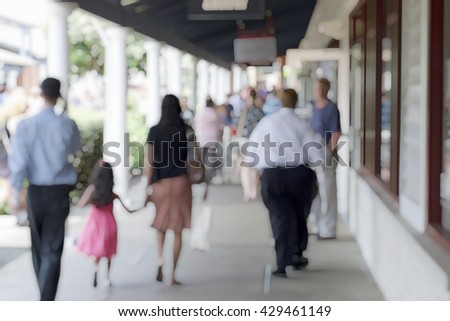 BLUR SHOPPING OUTLET WITH A LOT OF  CUSTOMERS - VIRGINIA, USA (FOR BACKGROUND)