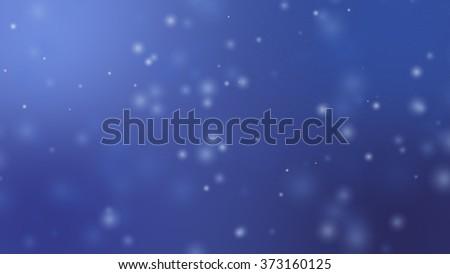 Blur snow on dark blue background. - stock photo