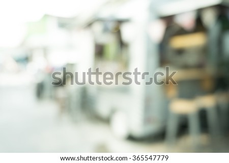 blur street food maket - stock photo