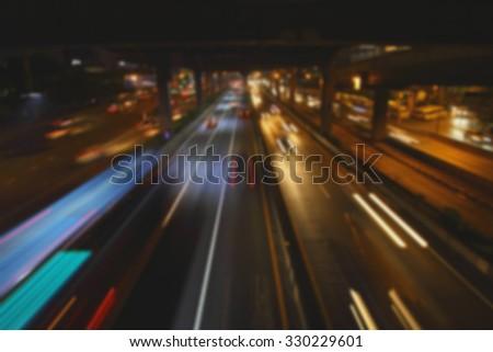Blur Street lighting - stock photo
