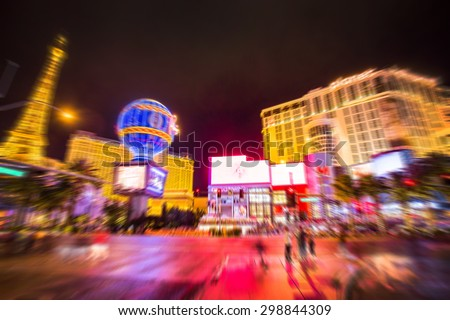 Blur strip road Las vegas Nevada - stock photo