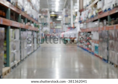 BLUR SUPERMARKET / WHOLESALE STORE  USA (FOR BACKGROUND)