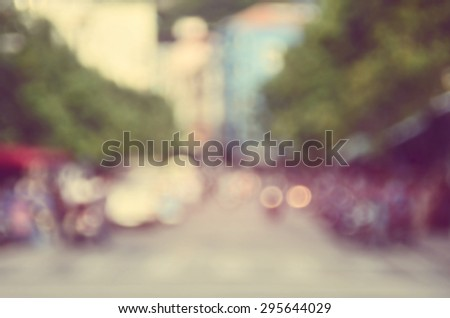 Blur traffic road abstract background.Retro color style. - stock photo