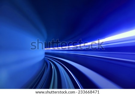Blur tunnel - stock photo